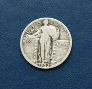 1926 SILVER LIBERTY STANDING QUARTER    VERY GOOD DETAILS
