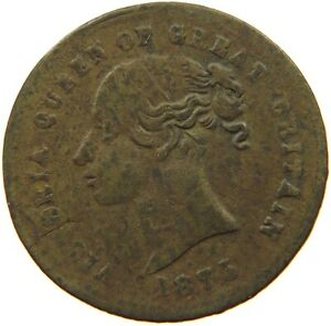 GREAT BRITAIN JETON 1875 VICTORIA  A14 223