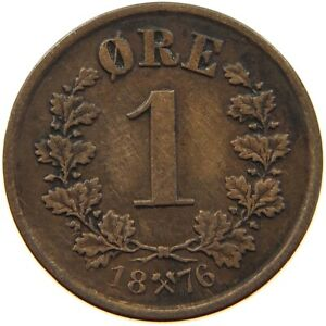 NORWAY 1 ORE 1876 A15 001