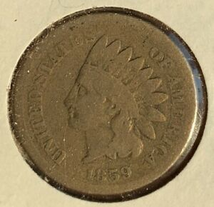 1859 INDIAN HEAD CENT GOOD FIRST YEAR