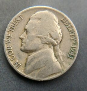 1941 NICKEL FIVE CENT  FIND COLLECTABLE COIN