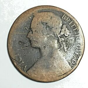 1876 GREAT BRITAIN QUEEN VICTORIA 1 ONE PENNY