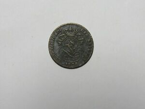 OLD BELGIUM COIN   1876 FRENCH 2 CENTIMES   CIRCULATED DISCOLORED RIM DINGS