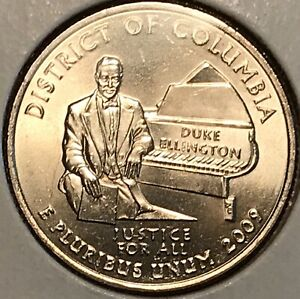 2009 D DISTRICT OF COLUMBIA WASHINGTON QUARTER FROM UNCIRCULATED ROLL