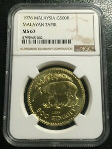 Click now to see the BUY IT NOW Price! MALAYSIA 500 RINGGIT 1976 GOLD NGC MS67