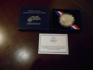 2009 ABRAHAM LINCOLN UNCIRCULATED SILVER DOLLAR LN8