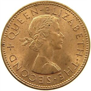 NEW ZEALAND 1/2 PENNY 1964 TOP S23 479