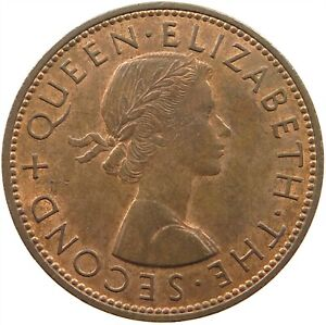 NEW ZEALAND PENNY 1964 TOP S29 671