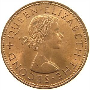 NEW ZEALAND 1/2 PENNY 1964 TOP S29 607