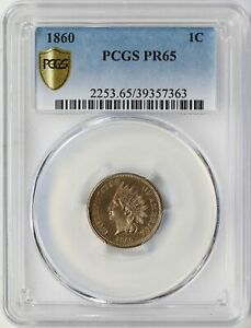 Click now to see the BUY IT NOW Price! 1860 INDIAN CENT 1C PCGS PR65