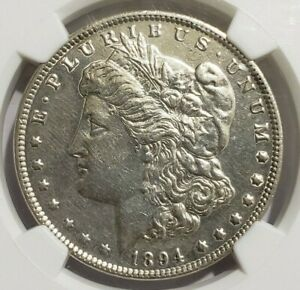 1894  MORGAN SILVER DOLLAR NGC AU DETAILS REMOVED FROM JEWELRY