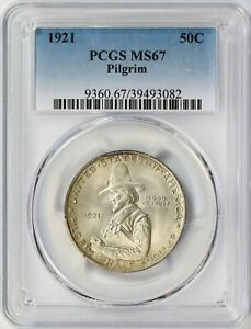 Click now to see the BUY IT NOW Price! 1921 PILGRIM SILVER HALF DOLLAR 50C PCGS MS67