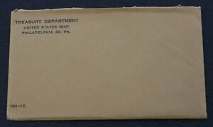 1959 PHILADELPHIA PROOF SET ENVELOPE WITH CARDS ONLY      NO COINS & NO COA