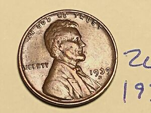 1939 D LINCOLN WHEAT CENT PENNY 2608K