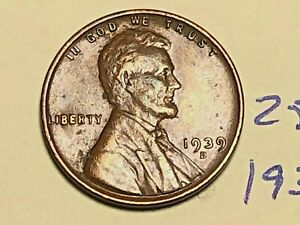 1939 D LINCOLN WHEAT CENT PENNY 2579K