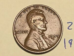 1939 D LINCOLN WHEAT CENT PENNY 2572K