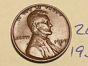 1939 D LINCOLN WHEAT CENT FINE PENNY 2647K