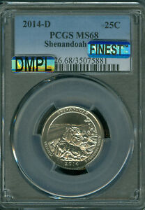 Click now to see the BUY IT NOW Price! 2014 D SHENANDOA QUARTER PCGS MS68 MAC DMPL FINEST GRADE MAC SPOTLESS . .
