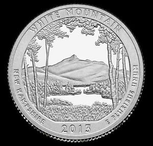2013 P WHITE MOUNTAIN NATIONAL FOREST QUARTER NEW HAMPSHIRE MINT UNCIRCULATED