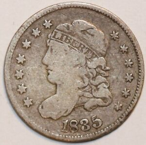 1835 CAPPED BUST HALF DIME   LARGE DATE        0063