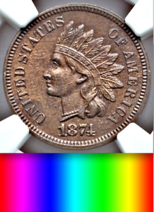 1874 NGC PR63 MINTAGE 700  UNDERVALUED PROOF INDIAN HEAD CENT UBER CHOICE 1C