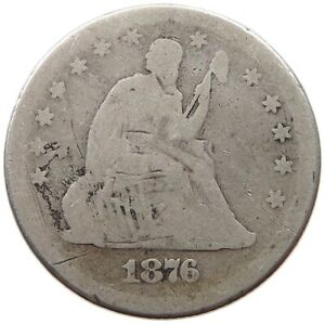 UNITED STATES QUARTER 1876 RK 593