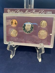 1991 PROOF SET UNITED STATES US MINT ORIGINAL GOVERNMENT PACKAGING BOX & COA
