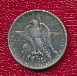 1934 TEXAS COMMEMORATIVE SILVER HALF DOLLAR   NICE CIRCULATED