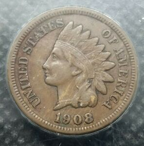 1908 S INDIAN HEAD CENT | EXTRA FINE