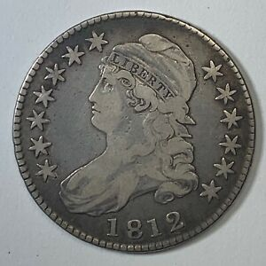 1812 CAPPED BUST HALF DOLLAR 50C