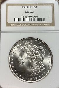 1883 CC NGC MS64 MORGAN SILVER DOLLAR