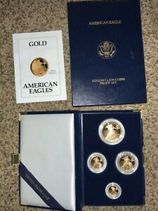 1991 AMERICAN EAGLE GOLD PROOF SET