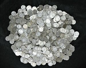 LOT OF 1 000 MERCURY DIMES >> ALL 1930'S <<  $100 FACE VALUE 90  SILVER COINS
