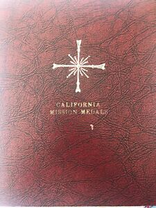 Click now to see the BUY IT NOW Price! 14 CALIRORNIA MISSION MEDALL SERIES BRONZE  COLLECTOR IN BOOK