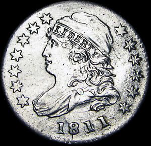 1811/9 CAPPED BUST DIME  DATE        STUNNING       F469