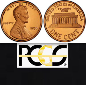 Click now to see the BUY IT NOW Price! 1990 NO S PCGS PR69 DEEP CAMEO POP TOP   $19 975 APR  LINCOLN MEMORIAL CENT 1C