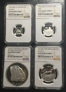 Click now to see the BUY IT NOW Price! 1970 UMM AL QAIWAIN SILVER PROOF SET  ALL NGC PF69UC  GRADE