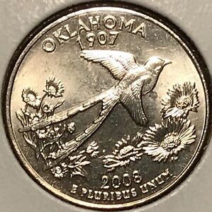 2008 D OKLAHOMA WASHINGTON QUARTER   FROM UNCIRCULATED ROLL
