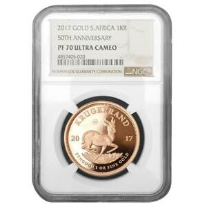 Click now to see the BUY IT NOW Price! SDAFRIKA   1 RAND 2017   KRGERRAND   NGC PF 70 ULTRA CAMEO   1 OZ GOLD PP