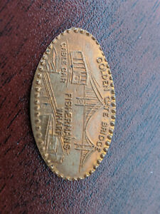 SAN FRANCISCO COMMEMORATIVE COIN   CRUSHED PENNY