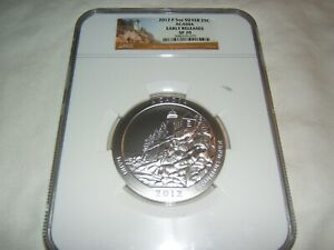 Click now to see the BUY IT NOW Price! 2012 P ACADIA AMERICA THE BEAUTIFUL 5 OZ SILVER NGC SP70 EARLY RELEASES
