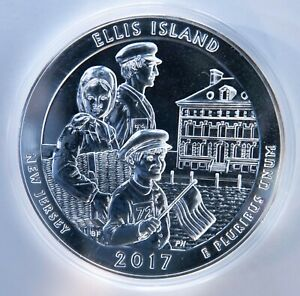 2017 AMERICA THE BEAUTIFUL  ATB  ELLIS ISLAND 5 OZ. SILVER QUARTER