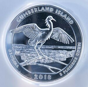 2018 AMERICA THE BEAUTIFUL  ATB  CUMBERLAND ISLAND 5 OZ. SILVER QUARTER