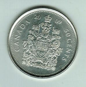 2009   50 CENTS  PERFECT COIN STRONG AND CLEAR STRIKE