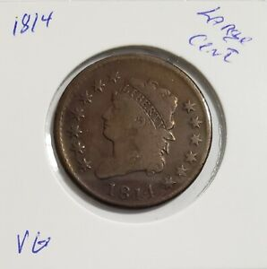 1814 CLASSIC HEAD LARGE CENT VG    TYPE COIN