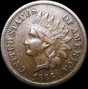 1866 INDIAN CENT PENNY      NICE        D610