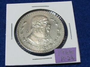 LARGE MEXICAN SILVER COIN 1966 MORELOS SILVER PESO  COMBINE SHIPPING SAVE $$$$