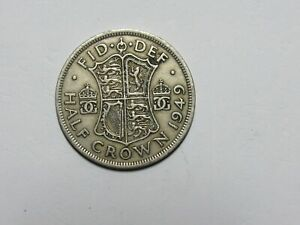 OLD GREAT BRITAIN COIN   1949 HALF CROWN   CIRCULATED
