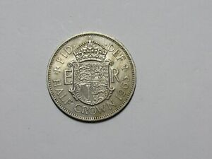 OLD GREAT BRITAIN COIN   1963 HALF CROWN   CIRCULATED