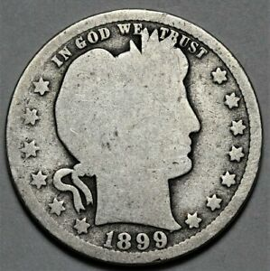 1899 O BARBER QUARTER  >> US SILVER 25C COIN <<  FLAT RATE SHIPPING   LOT 920